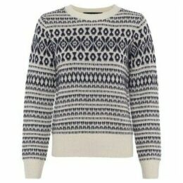 French Connection  Jacquard Sweater  women's Sweater in Beige