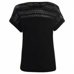 Golddigga  Slub Top Ladies  women's Blouse in Black