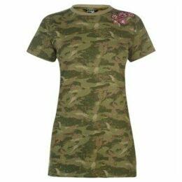 Golddigga  Slogan T Shirt Ladies  women's T shirt in Green