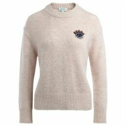 Kenzo  sweater in pink wool with frontal pearl application  women's Sweater in Pink
