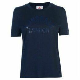 Lonsdale  Large Logo Crew T Shirt Ladies  women's T shirt in Blue