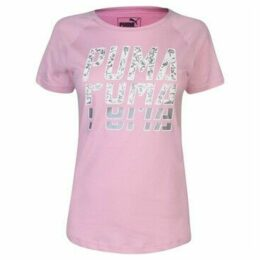 Puma  Repeat Word T Shirt Ladies  women's T shirt in Multicolour
