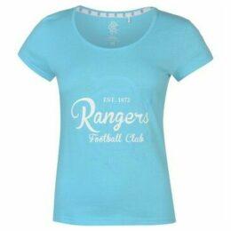 Team  FC Crest Print T Shirt Ladies  women's T shirt in Blue