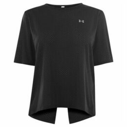 Under Armour  Sport Short Sleeve T Shirt Ladies  women's T shirt in Black