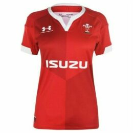 Under Armour  Wales Home Rugby Shirt 2019 2020 Ladies  women's T shirt in Red