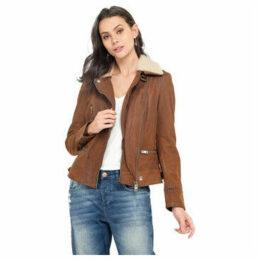Oakwood  Reversible coat in woolen skin  women's Coat in Brown