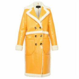 Oakwood  Long coat with long sleeves  women's Coat in Yellow