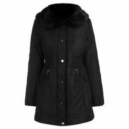 David Barry  Jck FurCollar Blk  women's Coat in Black