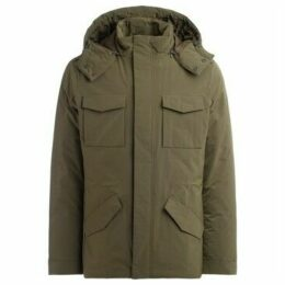Museum  model Bradford jacket in military green fabric with hood  women's Parka in Green