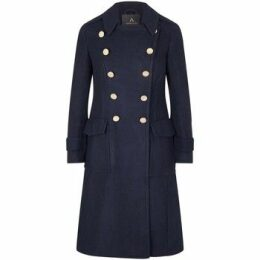 Anastasia  Navy Mlitary Coat  women's Coat in Blue
