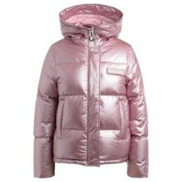 Kenzo  Quilted jacket with metallic colored hood  women's Jacket in Pink