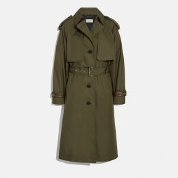 Coach Cotton Trench Coat