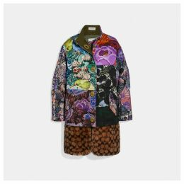Coach Patchwork Parka With Kaffe Fassett Print And Removable Signature Shearling Liner