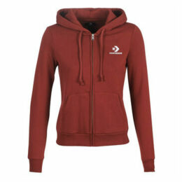 Converse  STAR CHEVRON EMBROIDERED FZ HOODIE  women's Sweatshirt in Red