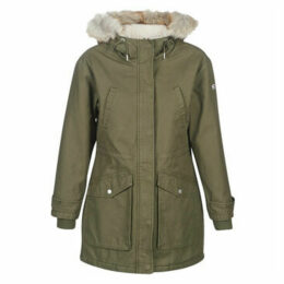 Tommy Jeans  TJW ESSENTIAL LINED COTTON PARKA  women's Parka in Green