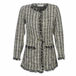 Cream  TWENDY  women's Coat in Grey