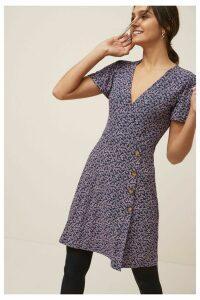 Womens Next Purple Ditsy Wrap Dress -  Purple