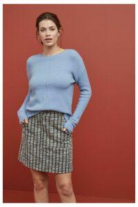 Womens Next Brown Check Boucle Skirt -  Brown