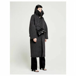 Incognito checked wool-blend coat