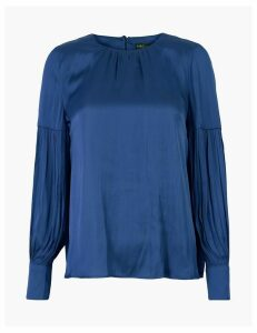 M&S Collection Gathered Neck Blouse