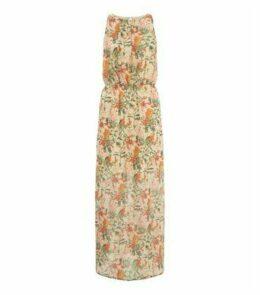 Mela Orange Floral Print Maxi Dress New Look