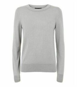 Pale Grey Fine Knit Crew Neck Jumper New Look