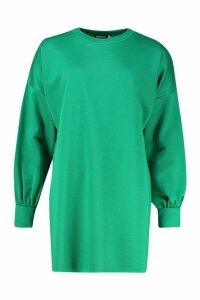 Womens The Perfect Oversized Sweat Dress - Green - 16, Green