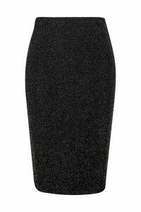 Womens Plus Shimmer Midi Skirt - grey - 18, Grey