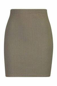 Womens Soft Rib Mini Skirt - green - 16, Green