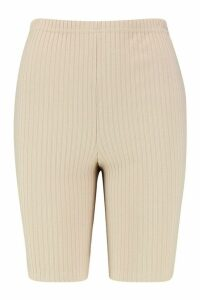 Womens Soft Ribbed Cycling Short - beige - 16, Beige