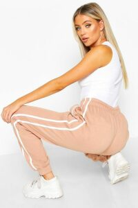 Womens Contrast Panel Loopback Jogger - pink - 14, Pink