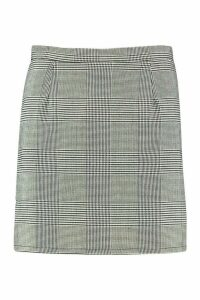 Womens Dogtooth Check A Line Mini Skirt - black - 16, Black