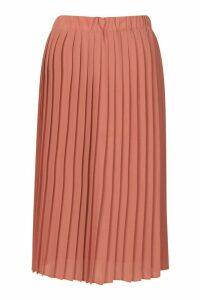 Womens Chiffon Pleated Midi Skirt - pink - 16, Pink