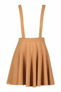 Womens Basic Jersey Pinafore Skirt - beige - 16, Beige