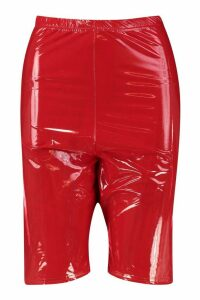 Womens Halloween Vinyl Cycling Short - red - 16, Red