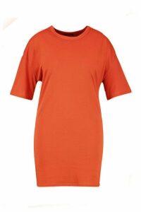 Womens Plus Oversized Drop Armhole T-Shirt Dress - orange - 18, Orange