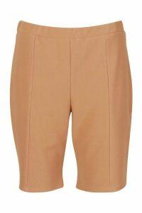 Womens Plus Thick Bandage Rib Cycling Shorts - beige - 20, Beige
