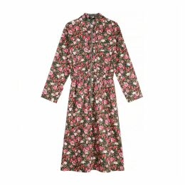 Abelina Cotton Mid-Length Dress in Floral Print
