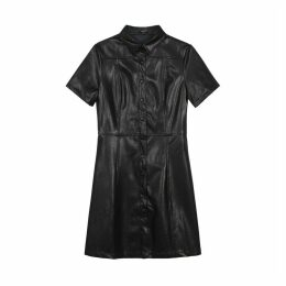 ADELISE Short Dress with Coated Appearance