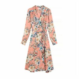 Adina Wrapover Dress in Floral Print