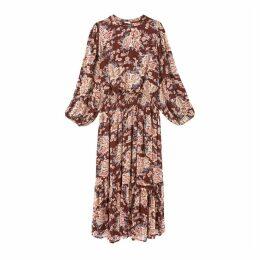 AMANDINE Long Chiffon Dress