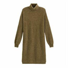 Short Roll-Neck Jumper Dress