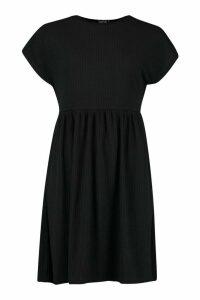 Womens Tall Soft Rib Smock Dress - black - 14, Black