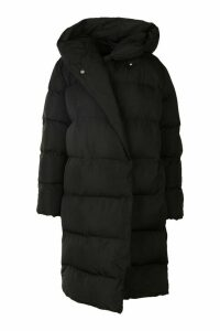 Womens Wrap Duvet Coat - black - 16, Black
