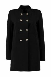 Womens Military Style Coat - black - 14, Black