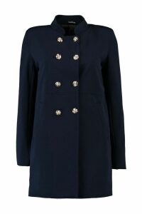 Womens Military Style Coat - navy - 12, Navy
