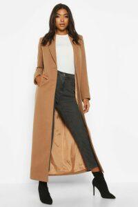 Womens Tall Full Length Wool Look Coat - beige - 16, Beige