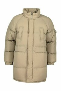 Womens Tall Lined Padded Coat - White - 16, White