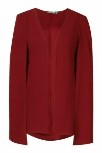 Womens Tall Edge to Edge Tailored Cape - 8, Red
