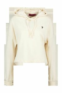 Womens Micro Pocket Cropped Hoody - cream - 6, Cream